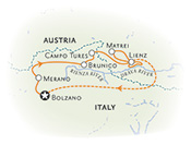 Dolomites Italy Biking Map Thumb